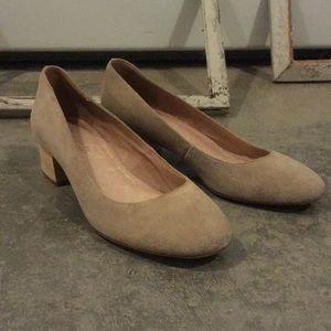 Madewell block heel suede shoe